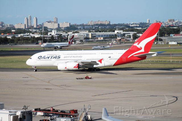 Airbus A380-800 (VH-OQE) - On the Observation Deck (International Terminal)