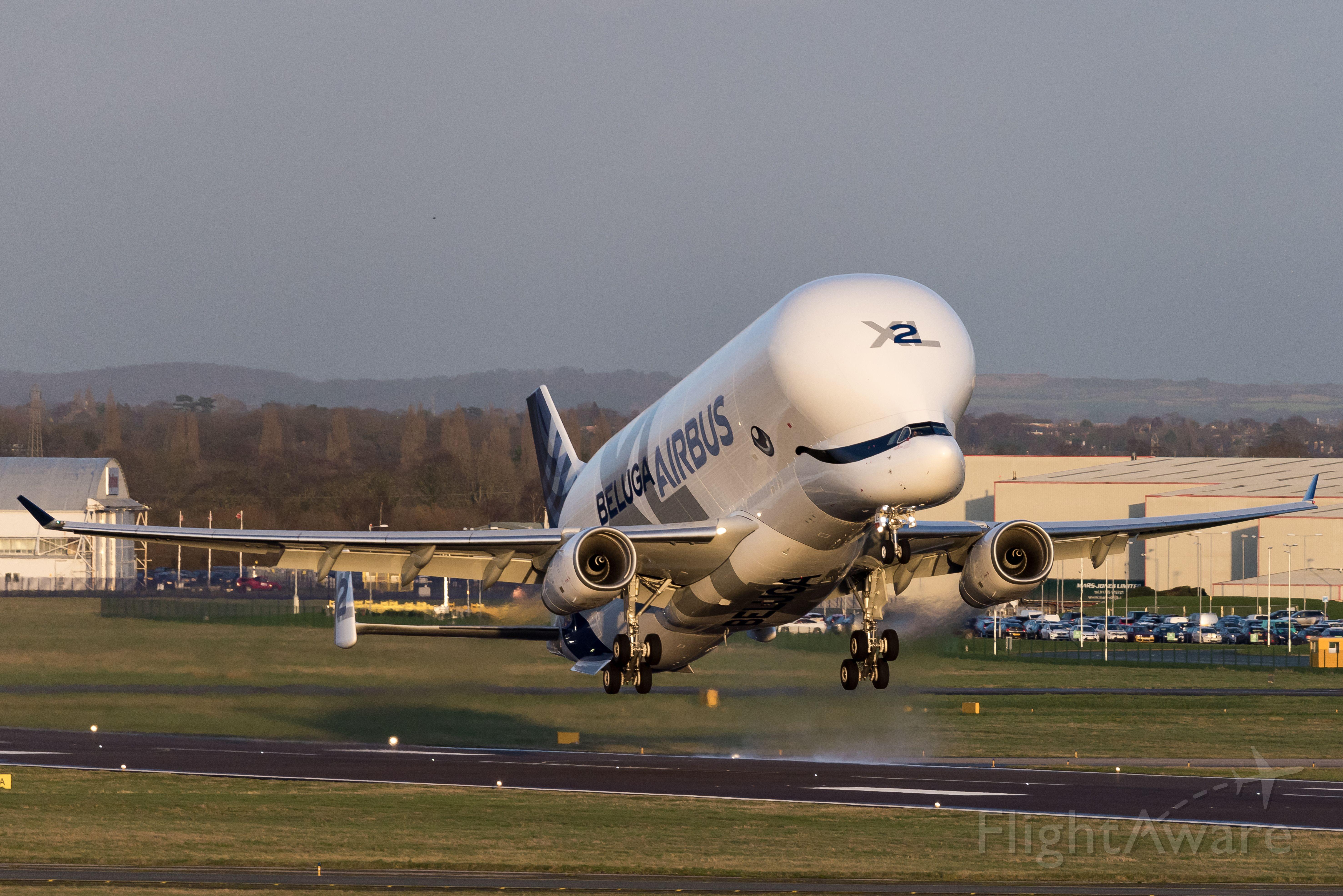 AIRBUS A-330-700 Beluga XL (F-GXLH) - Beluga XL2 take off 20.1.28
