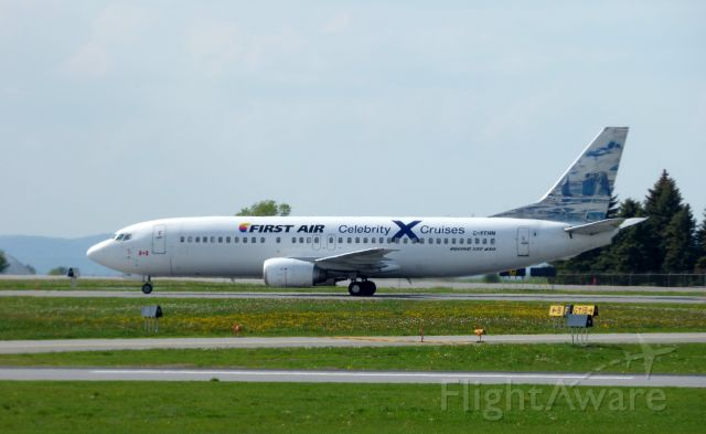 Boeing 737-700 (C-FFNM) - Shown here a moment or two from departure is a First Air (Celebrity X Cruises)livery in the Spring of 2017.