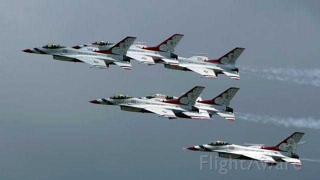 Lockheed F-16 Fighting Falcon — - Over north San Antonio, May 13,2020