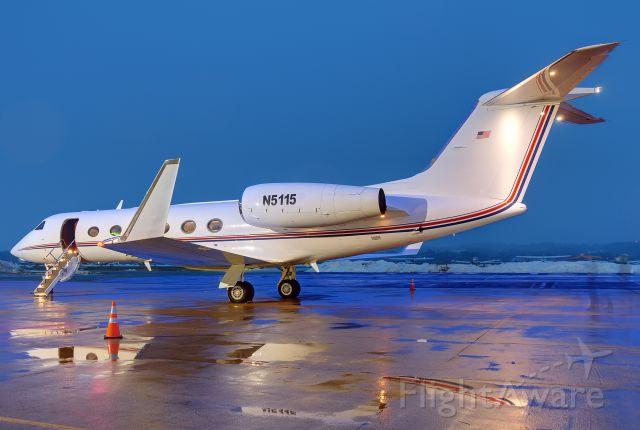 "Gulfstream Aerospace Gulfstream IV (N5115) - Seen at KFDK on 3/2/2010    <a href=""http://discussions.flightaware.com/profile.php?mode=viewprofile&u=269247"">  [ concord977 profile ]</a>"