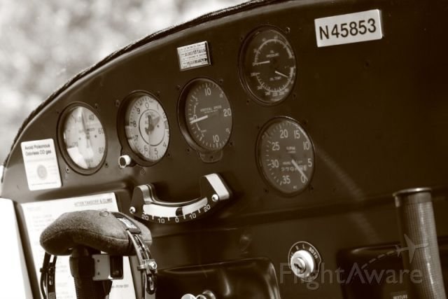 Cessna 140 (N45853) - Cockpit of N45853 as it sits at the Beaumont Hotel.  Photo by Michael Vincent