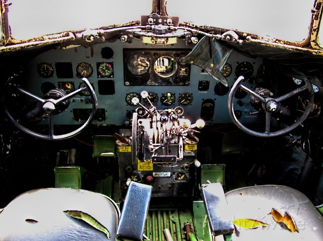 Douglas DC-3 (CUA231) - A cockpit shot of the Douglas C-47B Skytrain standing at the South African Military Museum.