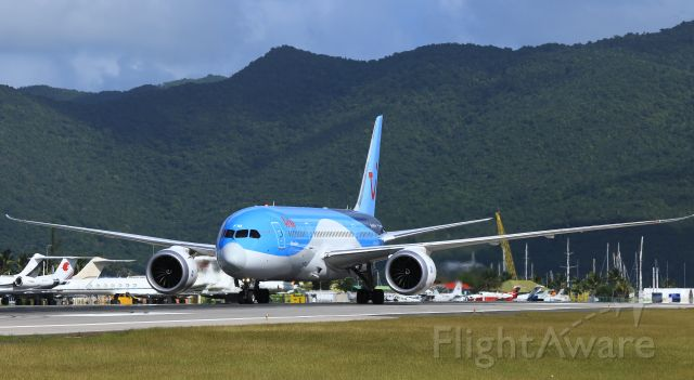 Boeing 787-8 (PH-TFM) - Arke fly back tracking the active to parking at St Maarten.