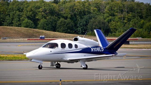 Cirrus Vision SF50 (N106LD) - #N106LD A Cirrus SF-50 Vision taxis to Rwy 34L for departure on 8.31.20. (Ser #0057).