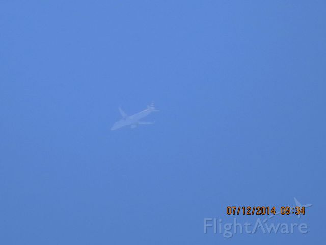 Airbus A321 (N109NN) - American flight 33 from JFK to LAX over Baxter Springs KS at 36k feet.