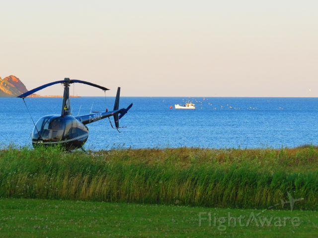 Robinson R-44 (C-GDKE) - On the beach at Cap-aux-Meules, Magdalen Islands, Québec, Canada