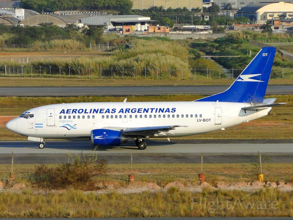 Boeing 737-500 (LV-BOT) - Aerolineas Argentinas.