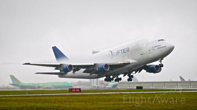 Boeing 747-400 (N718BA) - GTI4542 on rotation from Rwy 16R for a flight to KIAB on 11/25/14. (ln 932 / cn 27042).