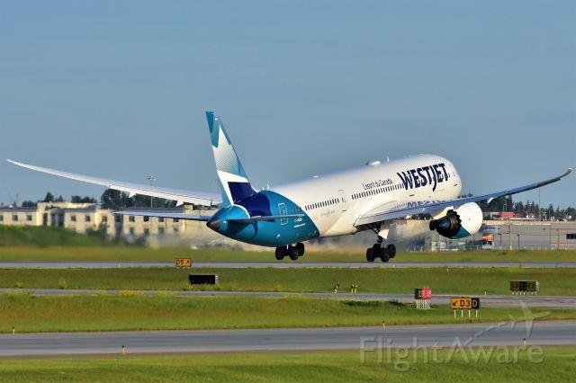 Boeing 787-9 Dreamliner (C-GUDH) - WestJet Boeing 787-9 Dreamliner departing YYC on July 12.
