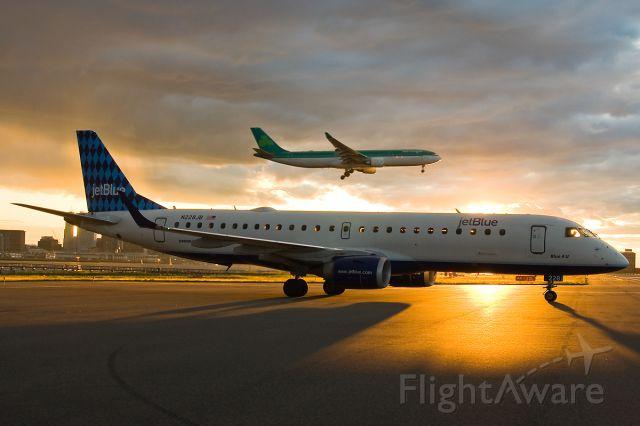 Embraer ERJ-190 (N228JB) - Irish Sunset @ KBOS Logan on Flightaware.Com !