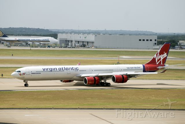 Airbus A340-600 (G-VBLU) - Virgin Atlantic visits DFW, July 2009