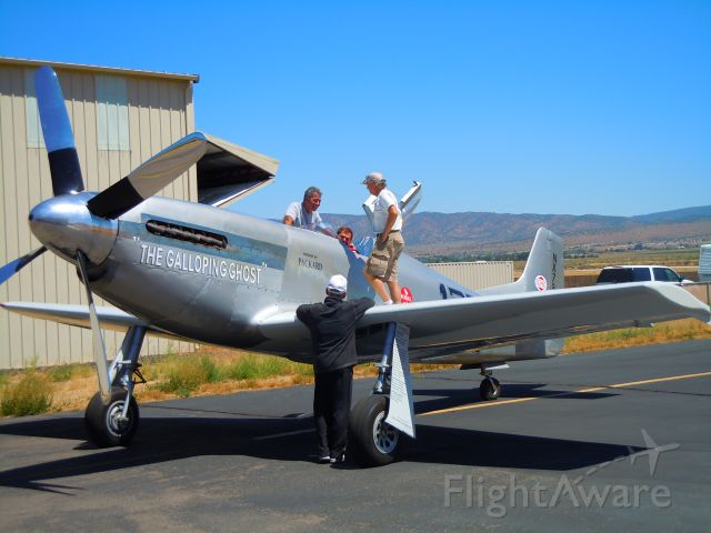 North American P-51 Mustang — - This P-51 has been very enhanced and is being readied for the Reno air races and is based at the Minden, NV airport. Shot taken just after a flight on 8/7/10.