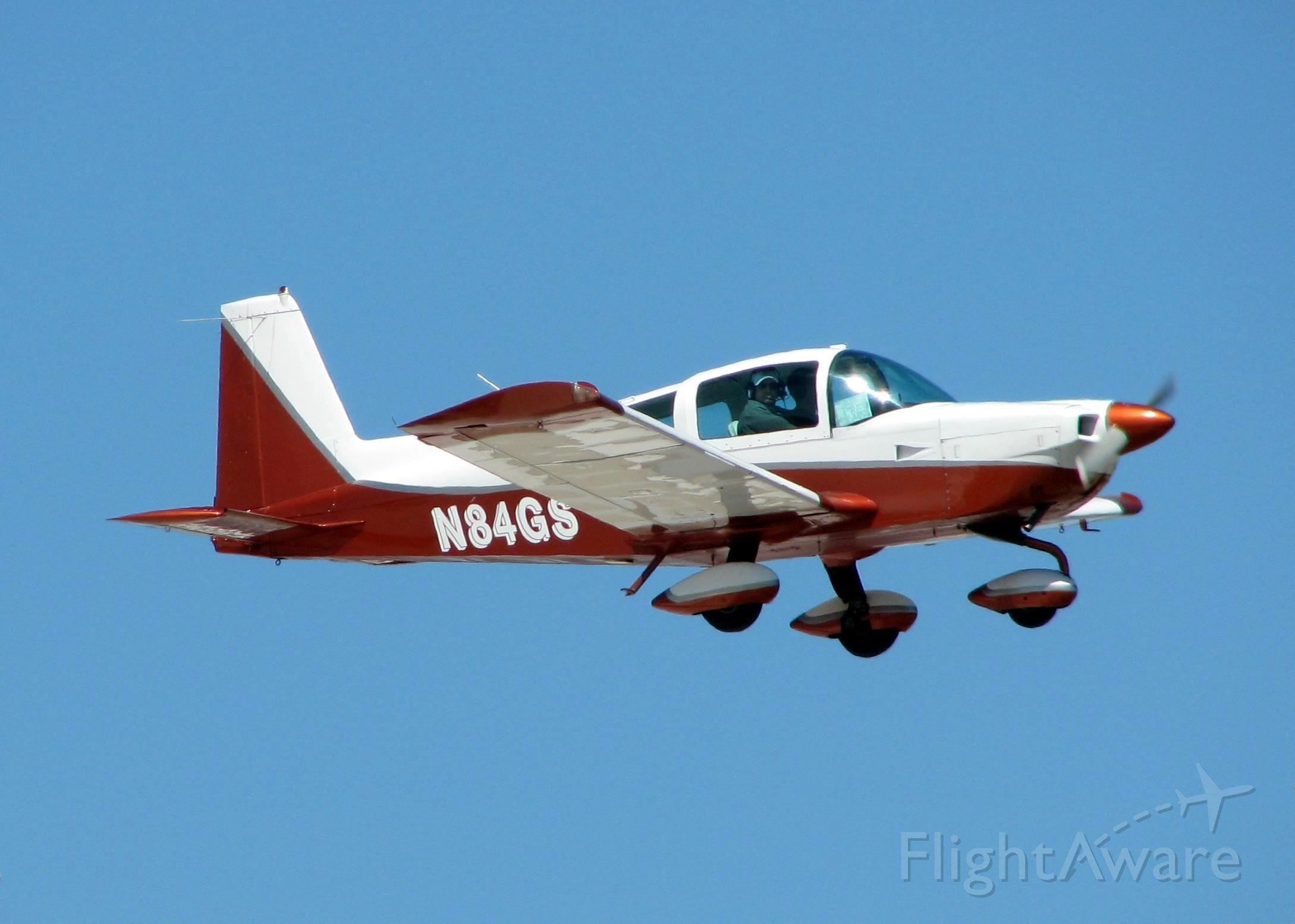 Grumman AA-5 Tiger (N84GS) - Landing at Shreveports Downtown Airport.