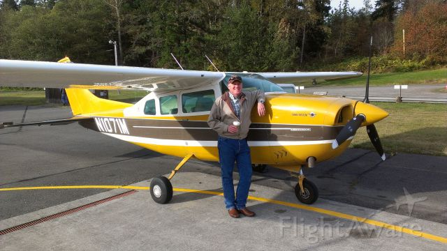 — — - Picking up N1071M at Port Townsend, WA after completing first annual as owner.