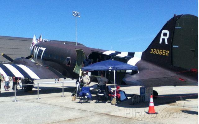 Douglas DC-3 (N345AB) - Douglas C-47 Skytrain (DC-3) 330652 W7-R/37 at (ADW) Andrews AFB - May 19, 2012