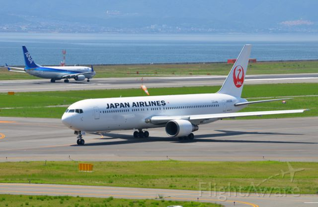 BOEING 767-300 (JA8398) - Airline: Japan Airlines (JL/JAL); Airport: Kansai International Airport (KIX/RJBB); Camera: Nikon D7000; Date: 4 July 2012