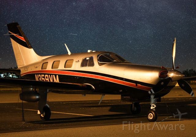 Piper Malibu Mirage (N359VM) - 1 1/2 minute long exposure.
