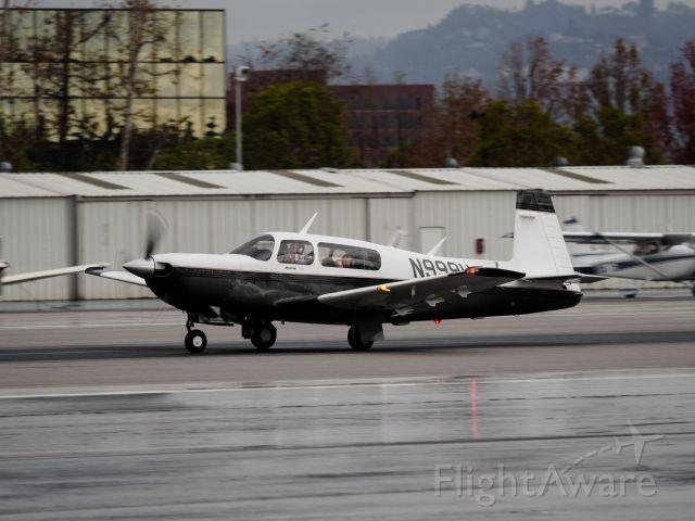 Mooney M-20 Turbo (N999U) - Departing from RWY 21