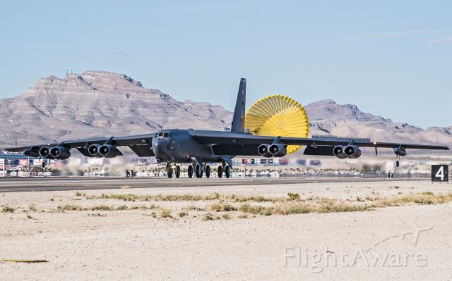 AFR61013 — - B-52H returning from a Red Flag mission at Nellis AFB, NV.