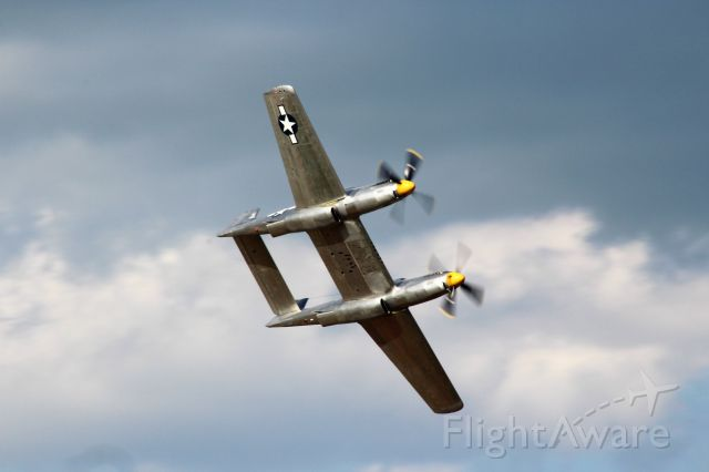 N887XP — - The elegant Twin Mustang performs for the Oshkosh 2019 crowd.
