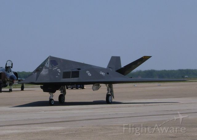 Lockheed Nighthawk (84-0827) - The F-117 Stealth Fighter after landing at Barksdale Air Force Base.