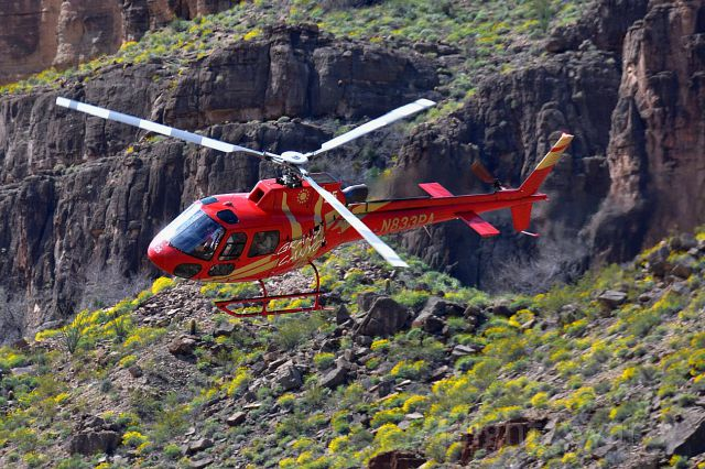 Eurocopter AS-350 AStar (N833PA) - Eurocopter AS-350B-3 Ecureuil down in the grand canyon