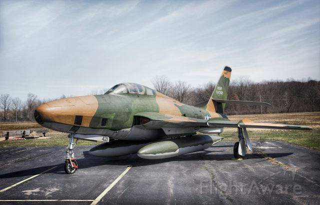 """— — - This is a Republic F-84F at Yankee Air Museum taken on 4/1/2017 then converted as an HDR image in Photoshop. br /br /For best viewing experience, please click on """"full"""" link at the top to see at best possible resolution."""