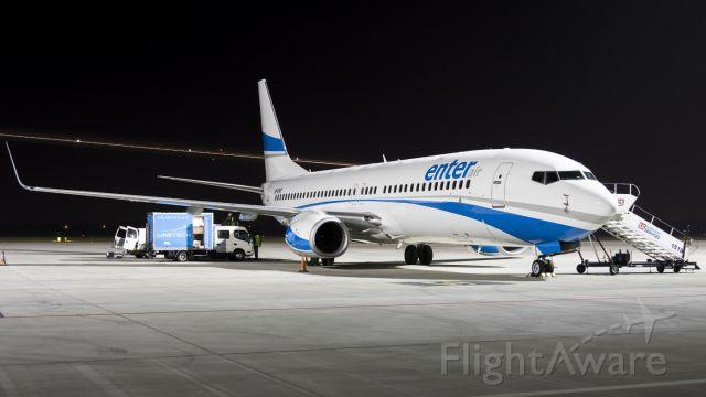 Boeing 737-800 (SP-ENT) - Night maintenance on EPWA