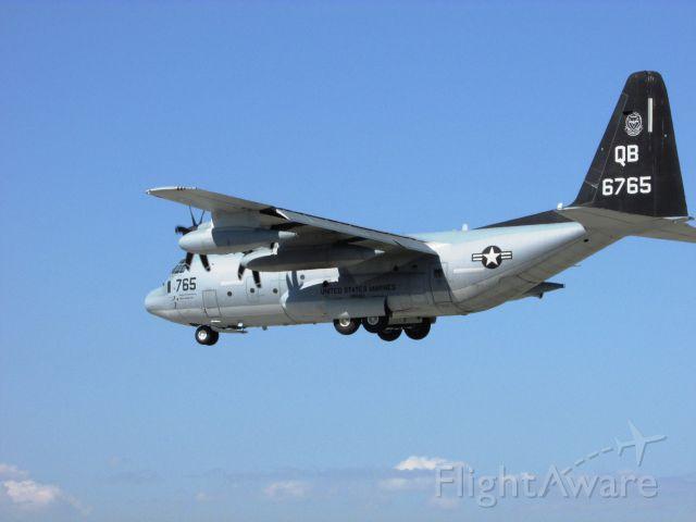 Lockheed C-130 Hercules (16-6765) - C-130 of Marine Aerial Refueler Squadron 352 (VMGR-352), based in Miramar, CA, landing on RWY 30.