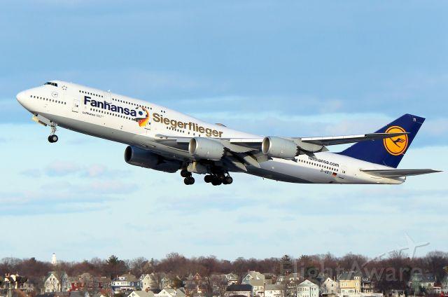 BOEING 747-8 (D-ABYI) - LH 423 to Frankfurt departing on 33L