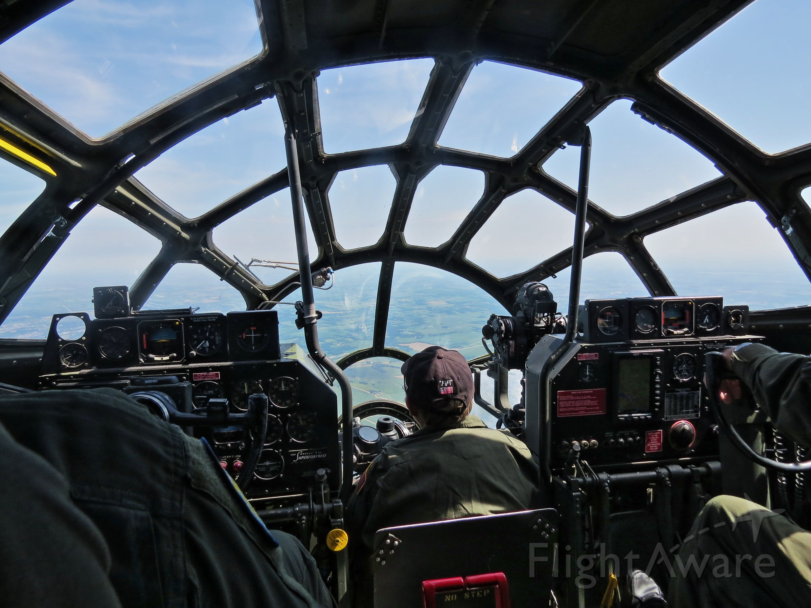 Boeing B-29 Superfortress (N529B) - Fantastic visibility from the flight deck of CAF  B-29 FiFi