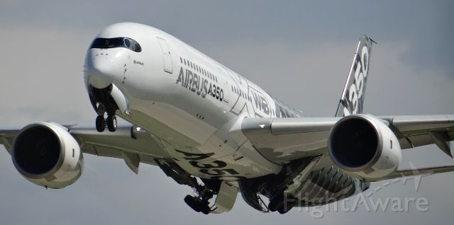 Airbus A350-900 (F-WWCF) - An Airbus A350 (which was incredibly quiet) departing at Oshkosh AirVenture 2015!
