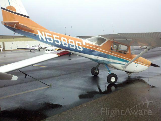Cessna Commuter (N5589G) - Tiedown ropes snapped in a thunderstorm Roanoke VA  7/4/11.