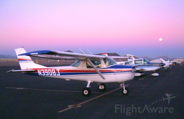 Cessna Commuter (N3908J) - Moon rise at sunset