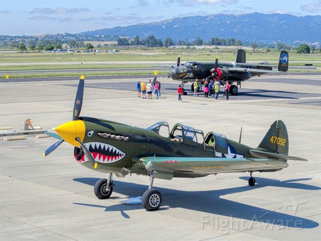 N293FR — - P-40N from the Collings Foundation at Livermore Municipal Airport 05/28/2019.br /B-25 Tondelayo in background