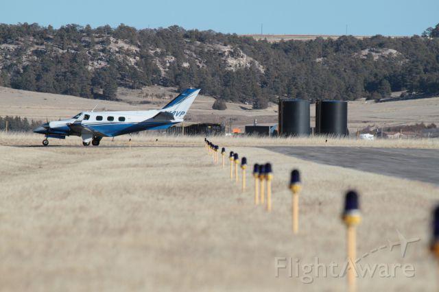 Beechcraft Duke (N14VP) - Duke run-up at Pine Bluffs, WY