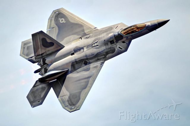 Lockheed F-22 Raptor — - An F-22 Raptor makes a pass at Tyndall AFB.