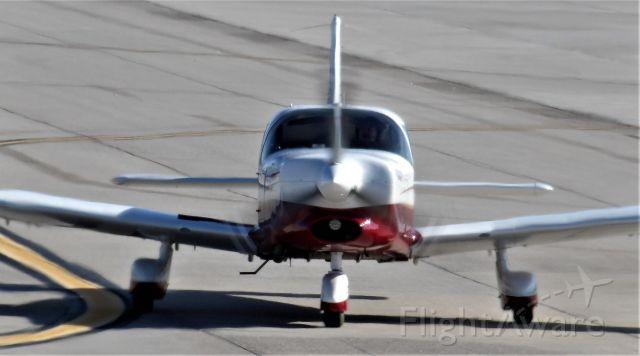 Piper Saratoga (N624DP) - Piper Turbo Saratoga N624DP heading from Cutter Aviation ramp area to runup area in Albuquerque