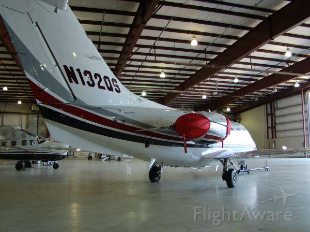 Beechcraft Beechjet (N132QS) - Netjets Hawker 400XP at Signature former Executive Beechcraft.