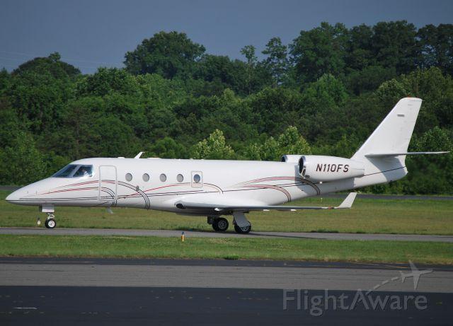 IAI Gulfstream G150 (N110FS) - TRINITY AVIATION CHARTERS LLC (NASCAR team owner Felix Sabates) at KJQF - 6/2/11