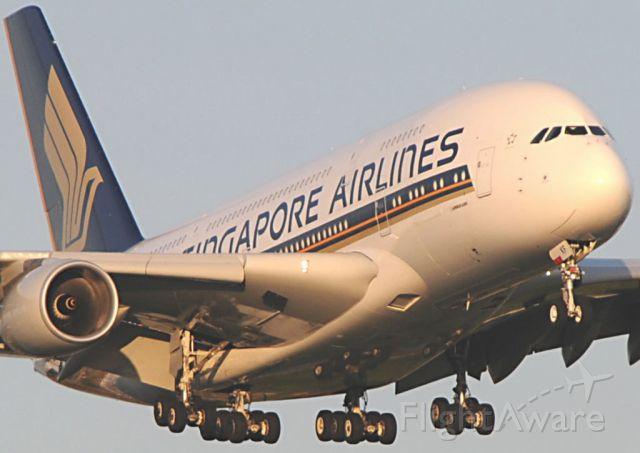 Airbus A380-800 (9V-SKF) - Singapore A38.8 9V-SKF arrives at LHR