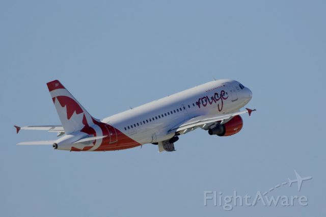 """Airbus A319 (C-GBIJ) - """"Rouge"""" livery, departing from KTPA for CYYZ. 11/29/2014 @ 2:43PM EST"""