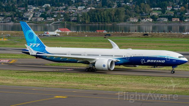 BOEING 777-9 (N779XW) - The Boeing 777-9 making its first appearance at Portland.