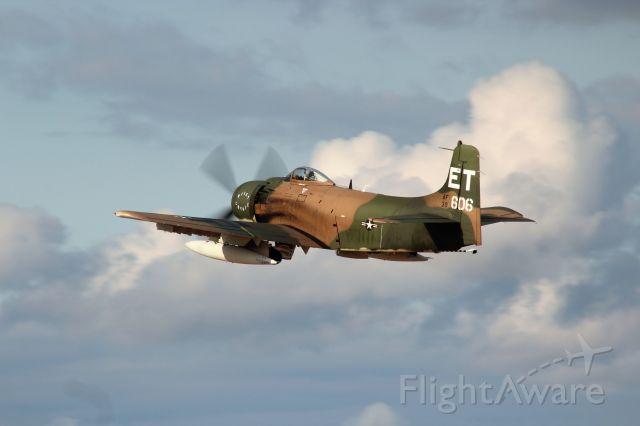 Douglas AD Skyraider (N39606) - Douglas Skyraider at Sunset.