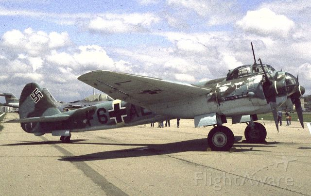 — — - Junkers Ju-88.<br />National Museum of the United States Air Force<br />Wright-Patterson Air Force Base<br />Dayton, OH, USA<br />April 1978