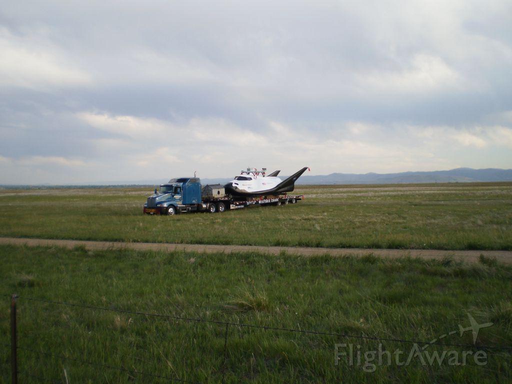— — - Dream Chaser after Captive Flight Test