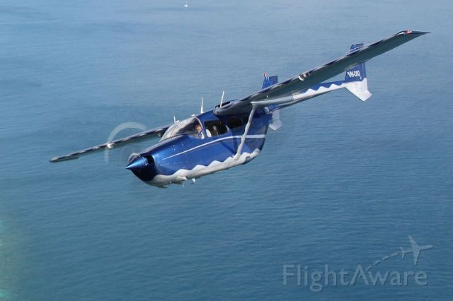 Cessna Super Skymaster (VH-OIQ) - Over the Coral Sea off Cairns