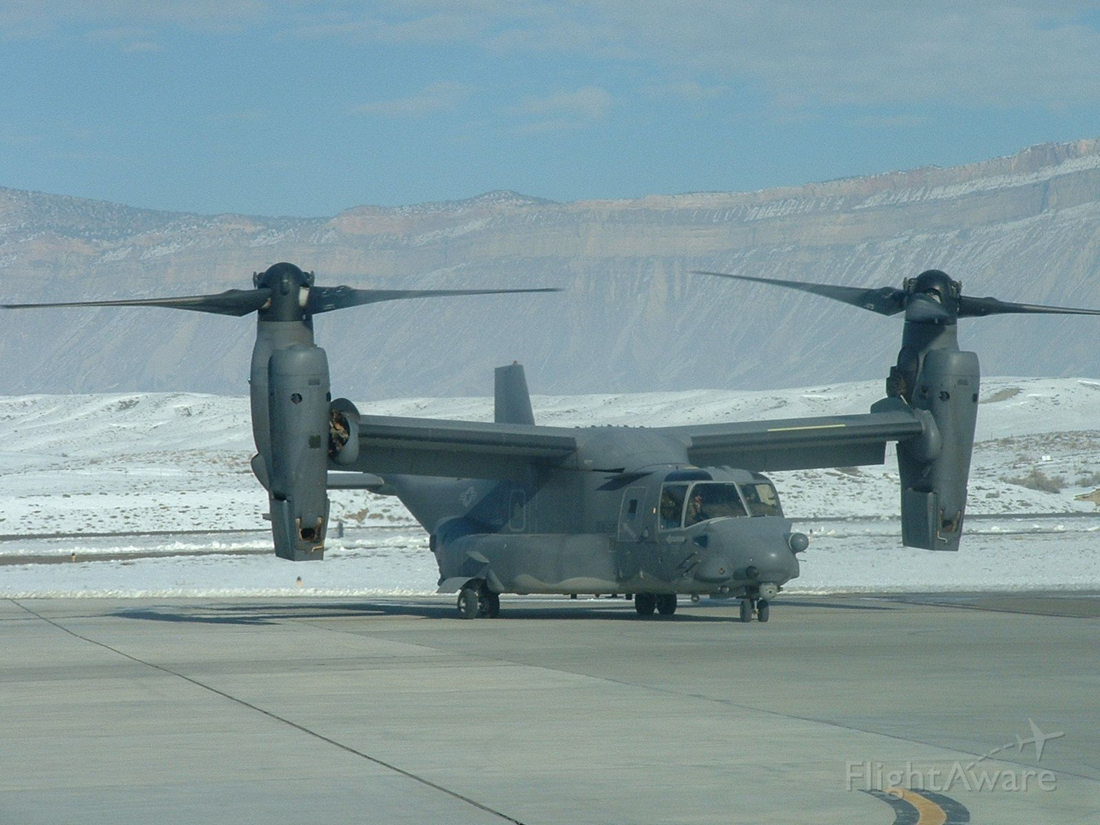 Bell V-22 Osprey (07-0034) - 19 DEC 2013 - A US Air Force CV-22B visiting from Kirtland AFB on a very cold day.