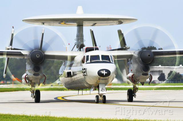 Grumman E-2 Hawkeye (N621) - Northrop Grumman E-2 Hawkeye arriving at Thunder Over Michigan 2018.